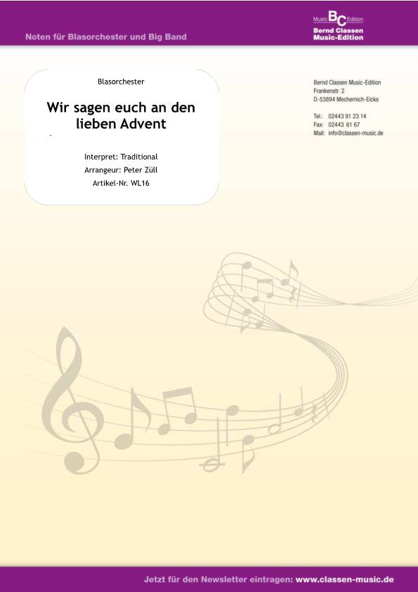 Musicainfonetdetalleswir Sagen Euch An Den Lieben Advent