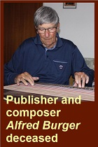 2019-09-13 Publisher and composer Alfred Burger died - hacer clic aquí