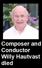 2020-05-07 Composer and conductor Willy Hautvast died - hacer clic aquí